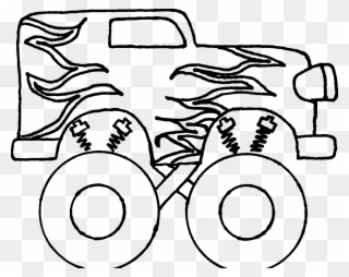 Monster Truck Clipart Black And White Free Easy Steps To Draw A Monster Truck Png Download 90436 Pinclipart