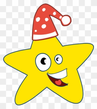 7c892a32a53a1 Clip Art Christmas Star Cap Smile Happy - Christmas Stars Clipart - Png  Download