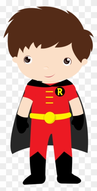 Batman Robin Super Heroi Em Desenho Baby Clipart Full Size